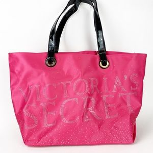 NWT Victoria's Secret Studded Tote Hot Pink